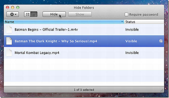 hide folders esconder archivos mac os x