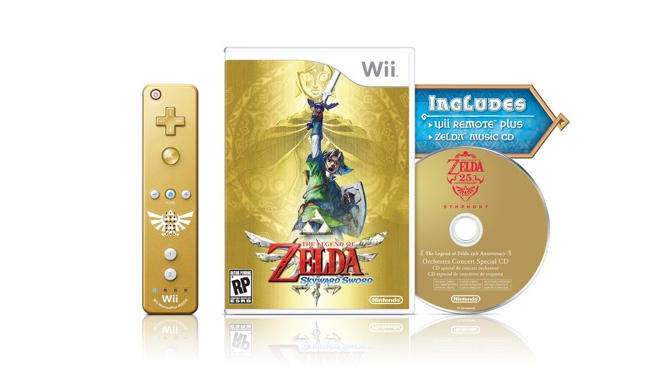 the legend of zelda skyward sword bundle golden wiimote plus