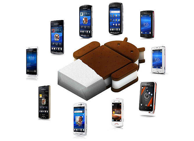 sony ericsson 2011 android ice cream sandwich