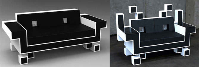 space invader sofa