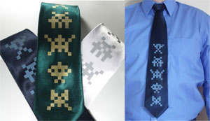 space invaders corbata
