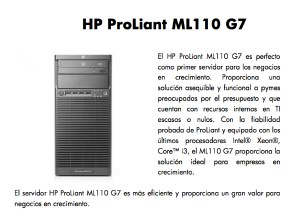 Perú: Servidor HP ProLiant ML110 G7