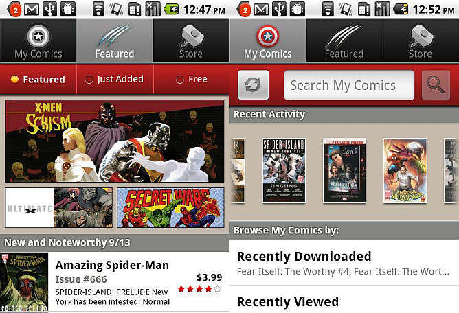 marvel comics aplicacion android