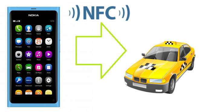 nokia n9 nfc taxi cab booking