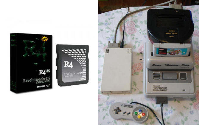 r4 card nds nintendo ds super magicom super nes