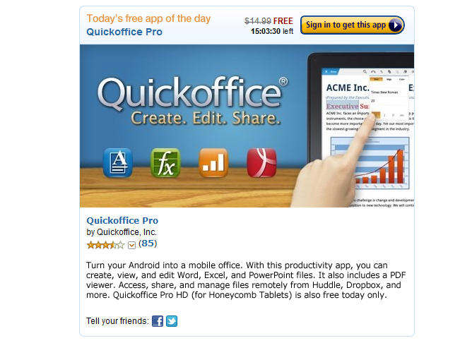 amazon quickoffice android