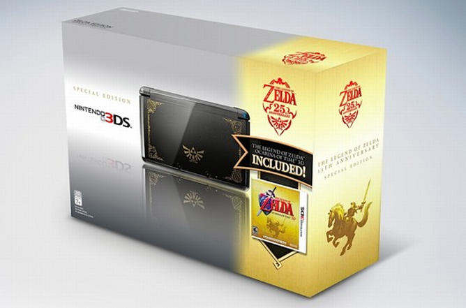 nintendo 3ds Cosmo Black zelda 25th anniversary limited edition