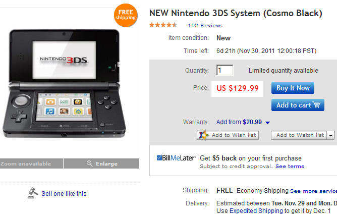 nintendo 3ds black friday deal