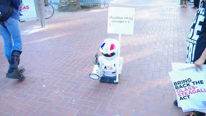 robot protestante occupy wall street