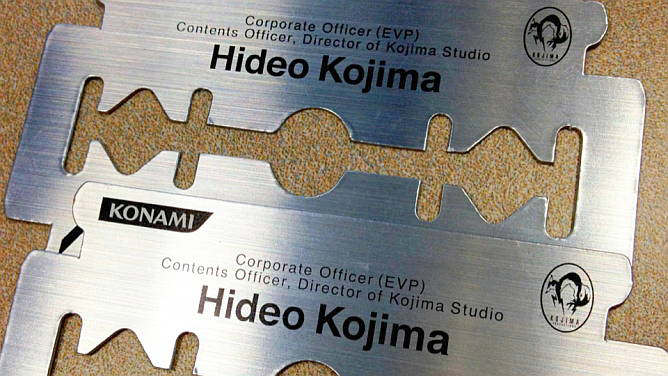 hideo kojima business card