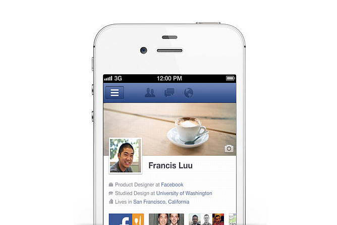 iphone 4 facebook timeline
