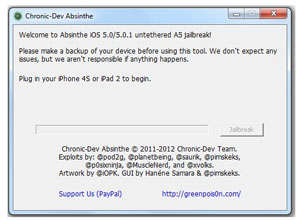 Jailbreak para iPhone 4S y iPad 2 desde Windows