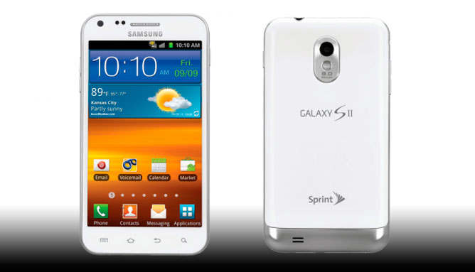 Samsung Galaxy S II Epic 4G Touch color blanco