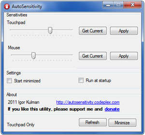 autosensitivity mouse