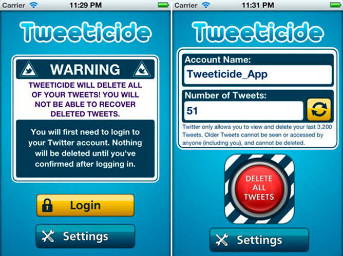 tweeticide iphone