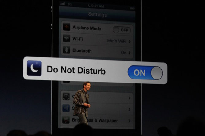 ios 6 disturb