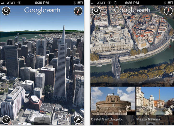 google earth ios