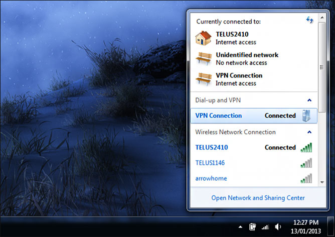 Conectarse a una red VPN