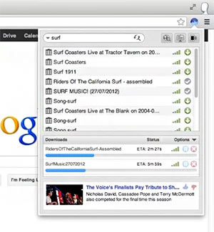 Surf, cliente BitTorrent para Chrome