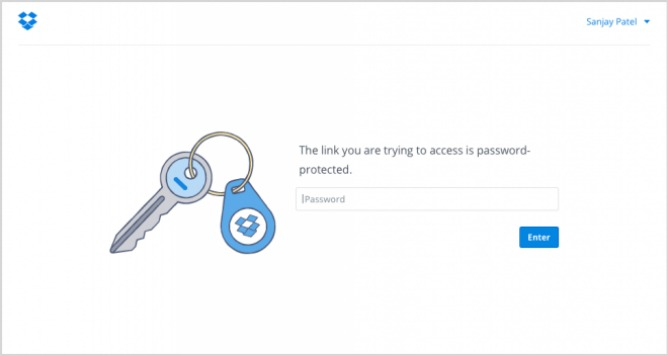 dropbox-Password-protected