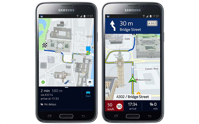 here-maps-samsung