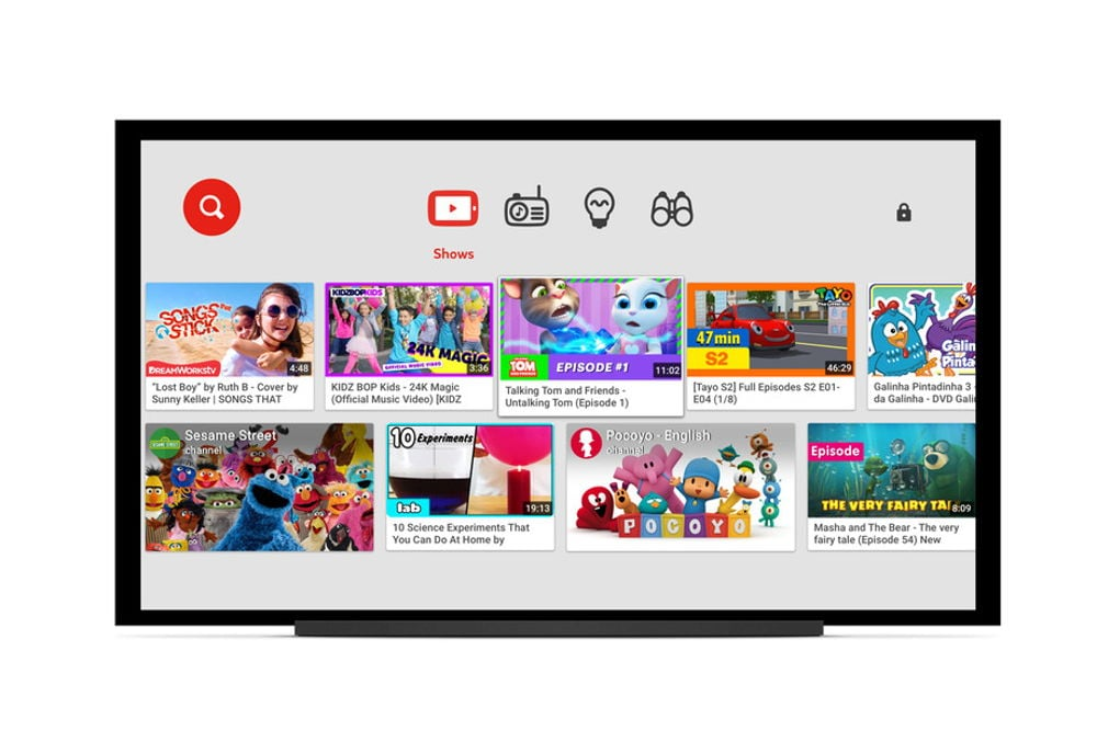 YouTube Kids ya disponible en Smart TVs