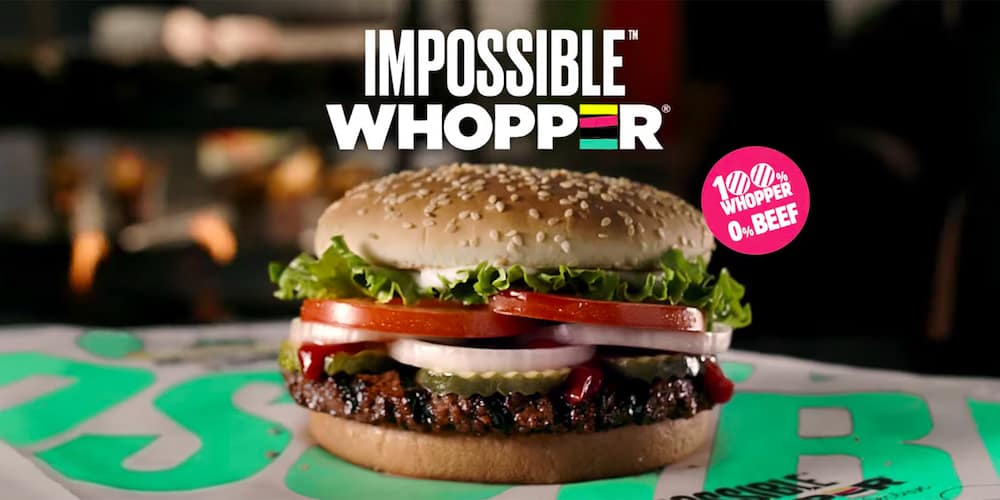 La Impossible Whopper de Burger King es 100% vegetal