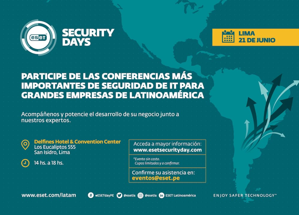 Evento ESET Security Days 2019 en Perú