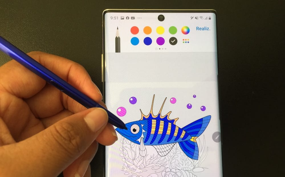 Coloreando con el S-Pen del Galaxy Note 10 Plus