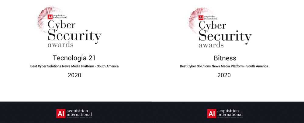 Tecnología 21 y Bitness ganadores de Cyber Security Awards 2020 – South America